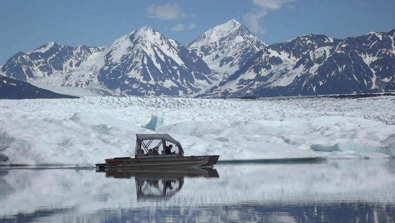 airboat tour of Knik Glacier - Alaskan wilderness tours