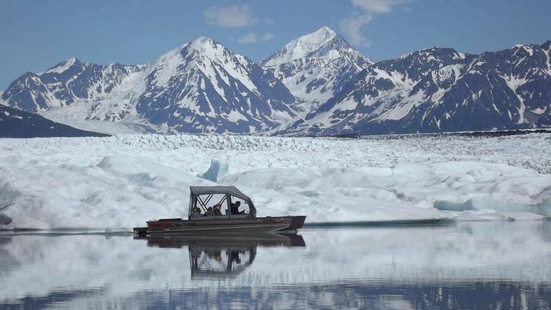 airboat tour of Knik Glacier - Alaskan wilderness tours